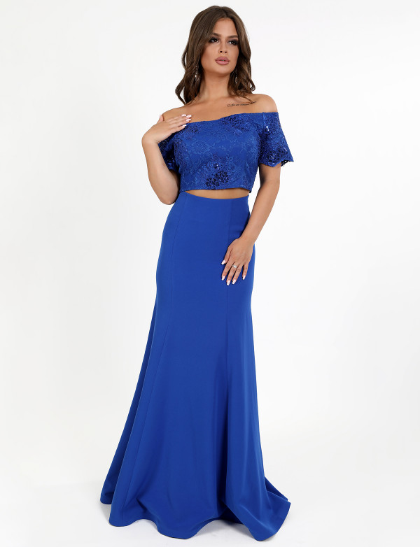 G 2235 Платье вечернее в виде топа и юбки