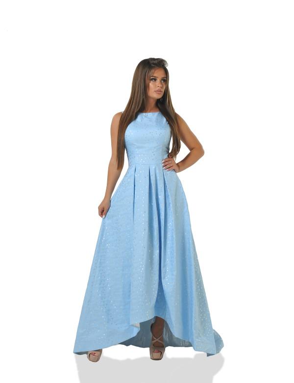 G 2255 Платье вечернее с асимметричным низом из жаккарда