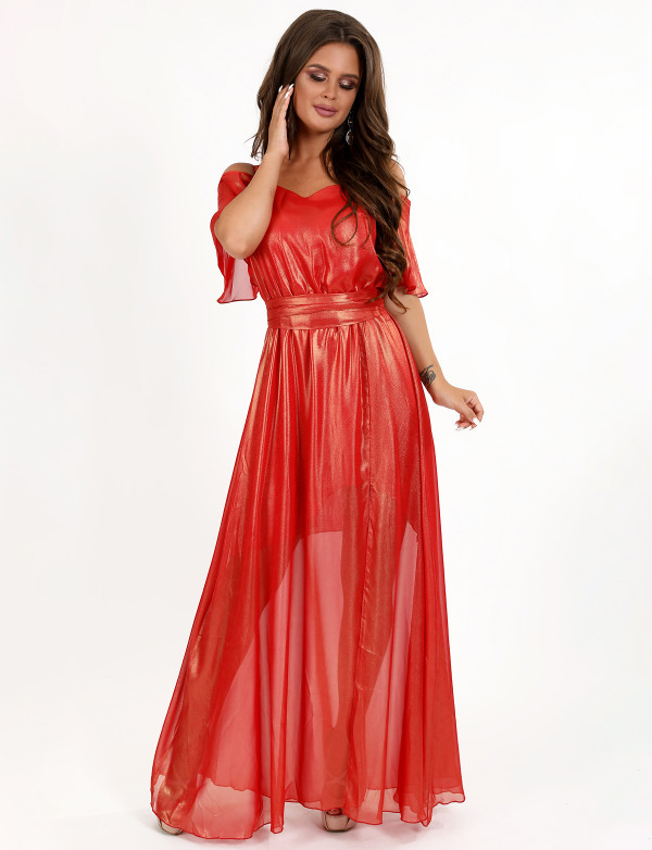 G 3071 Платье легкое шифоновое
