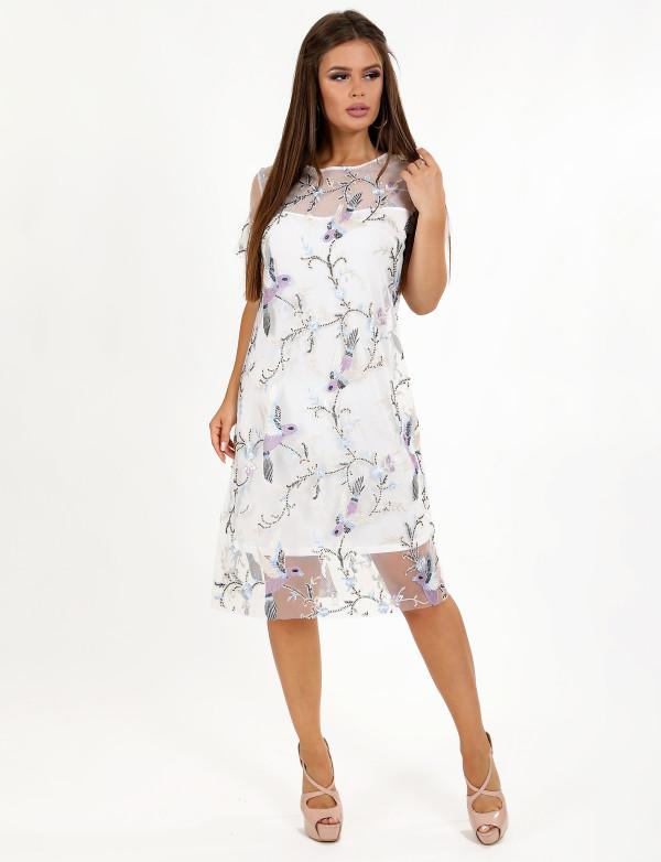 P 0079 Платье коктейльное свободного кроя