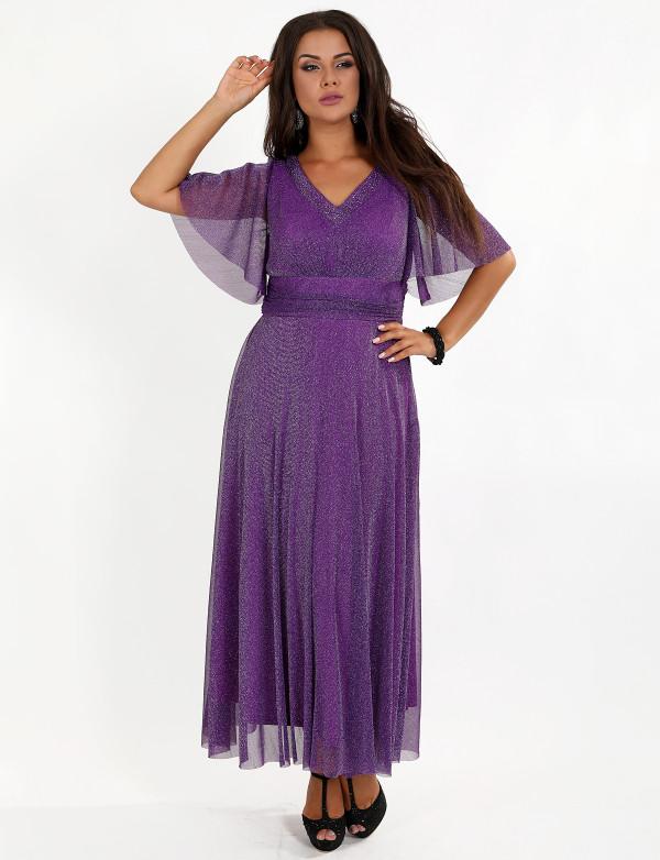 G 3083 Платье вечернее из люриксового трикотажа