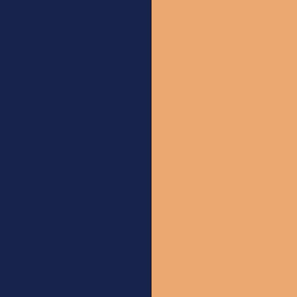 Dark Navy+Peach